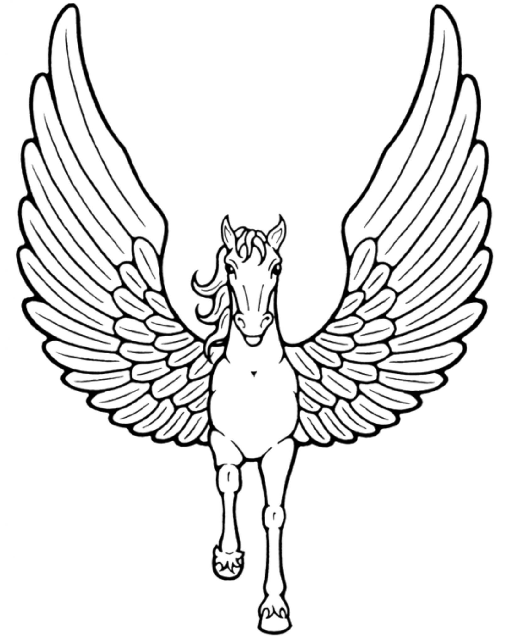 Coloring Pages For Unicorns : Print download unicorn coloring pages for children