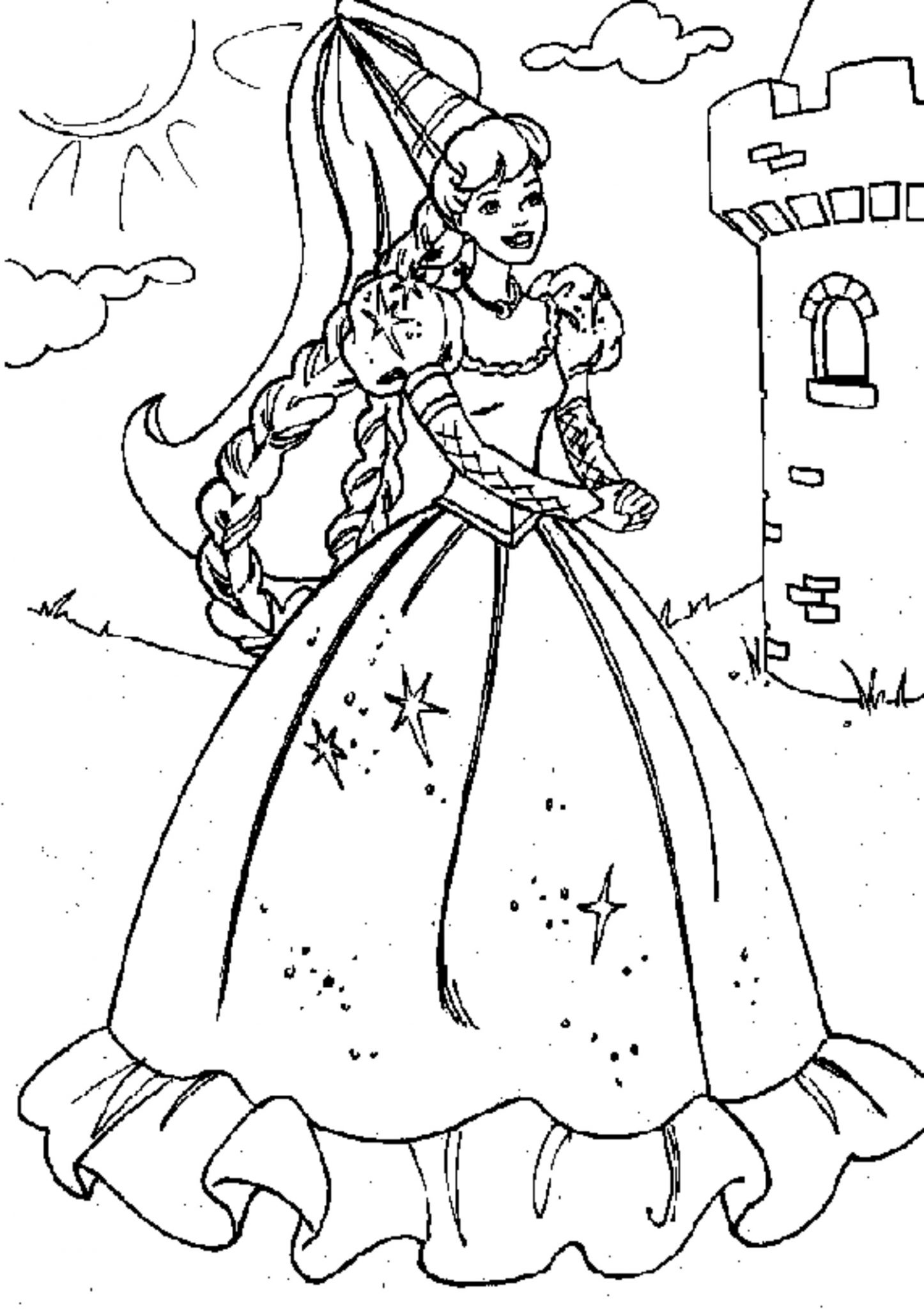 Print & Download Princess Coloring Pages Support The Child s