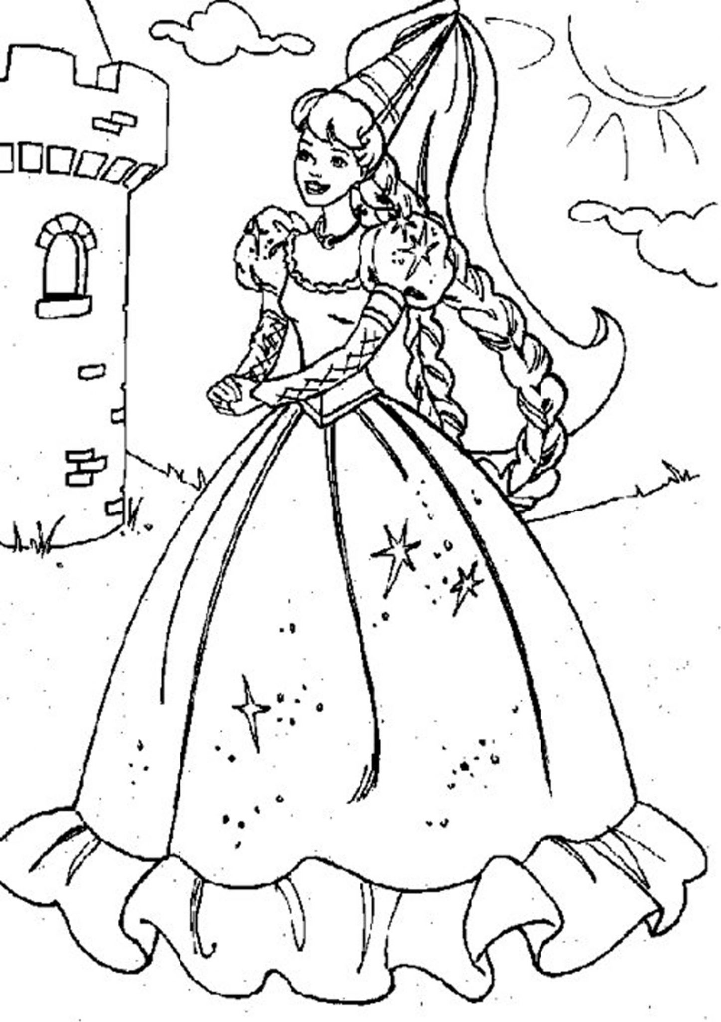 20+ Free Printable Disney Princess Belle Coloring Pages ... | 2048x1446