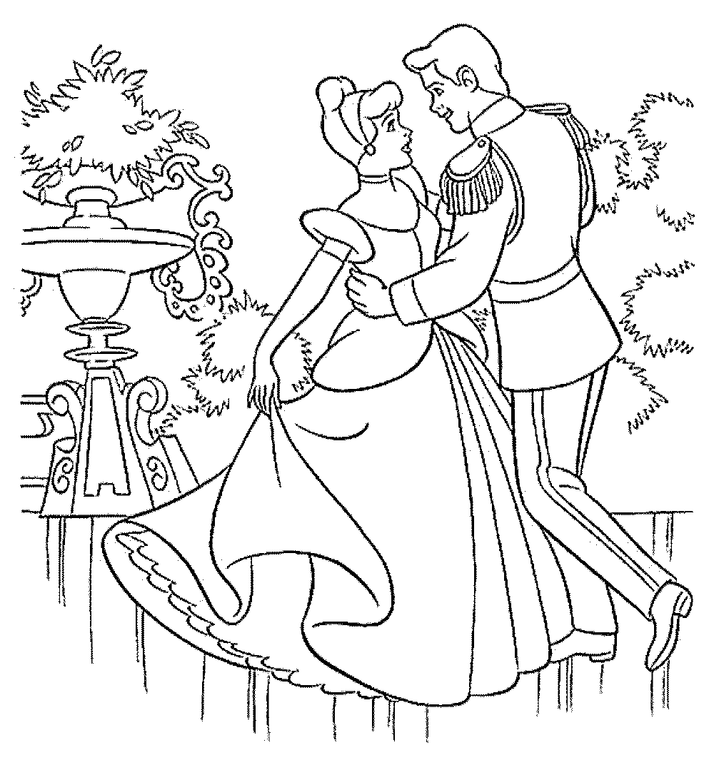 princess cinderella coloring pages