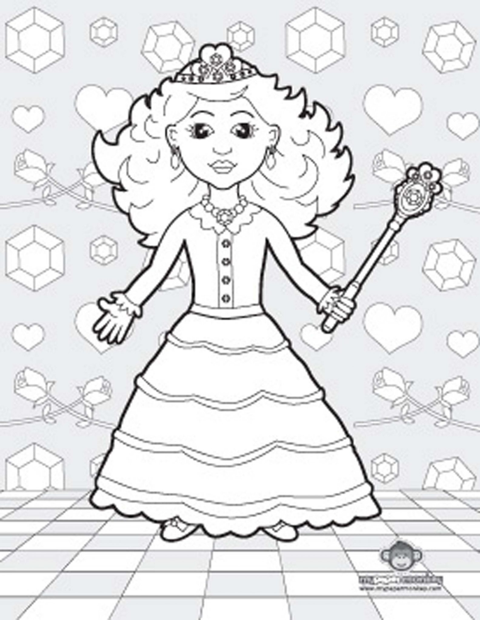 princess-tiana-coloring-pages | | BestAppsForKids.com