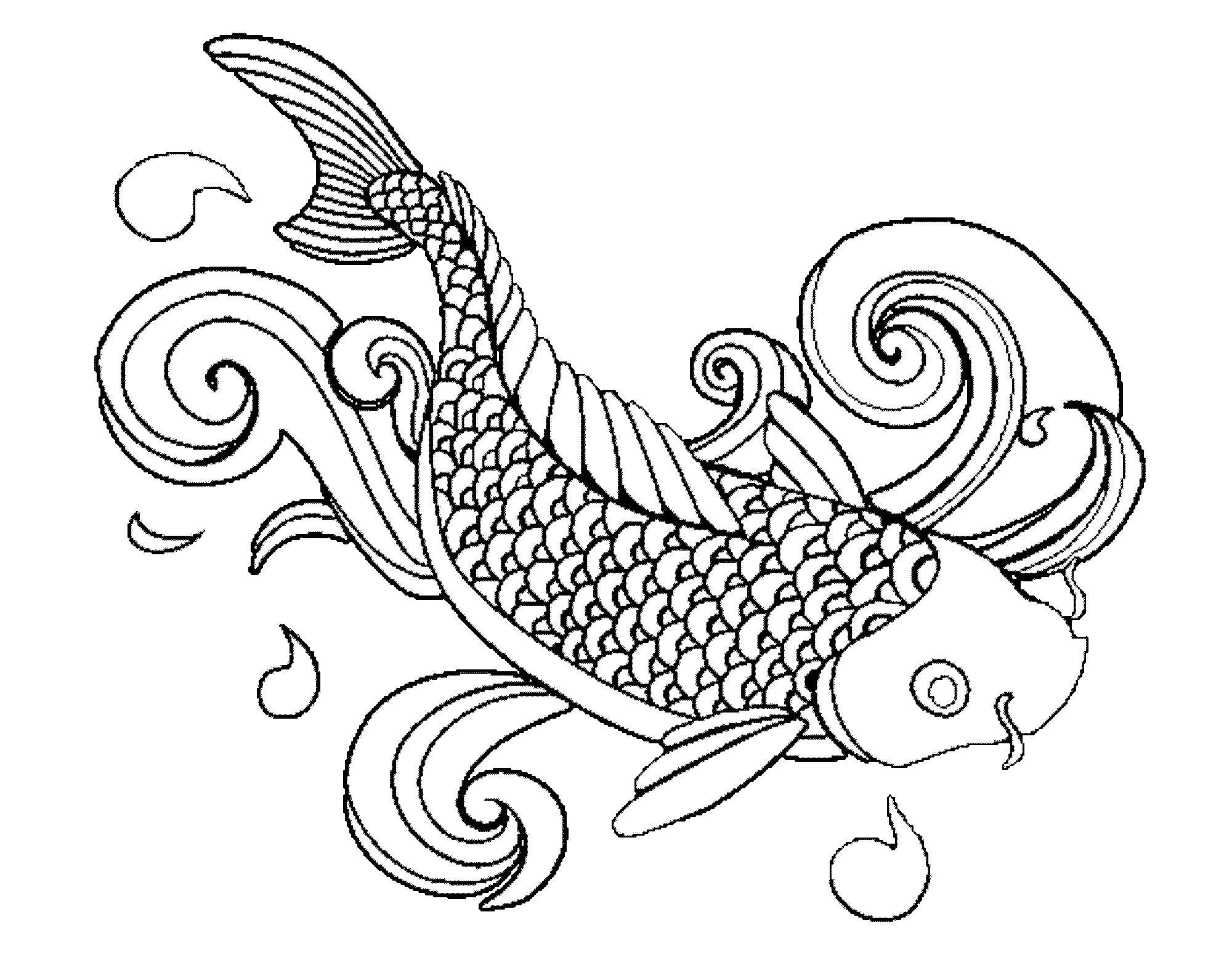 printable fish coloring pages - Coloring Page Of Fish