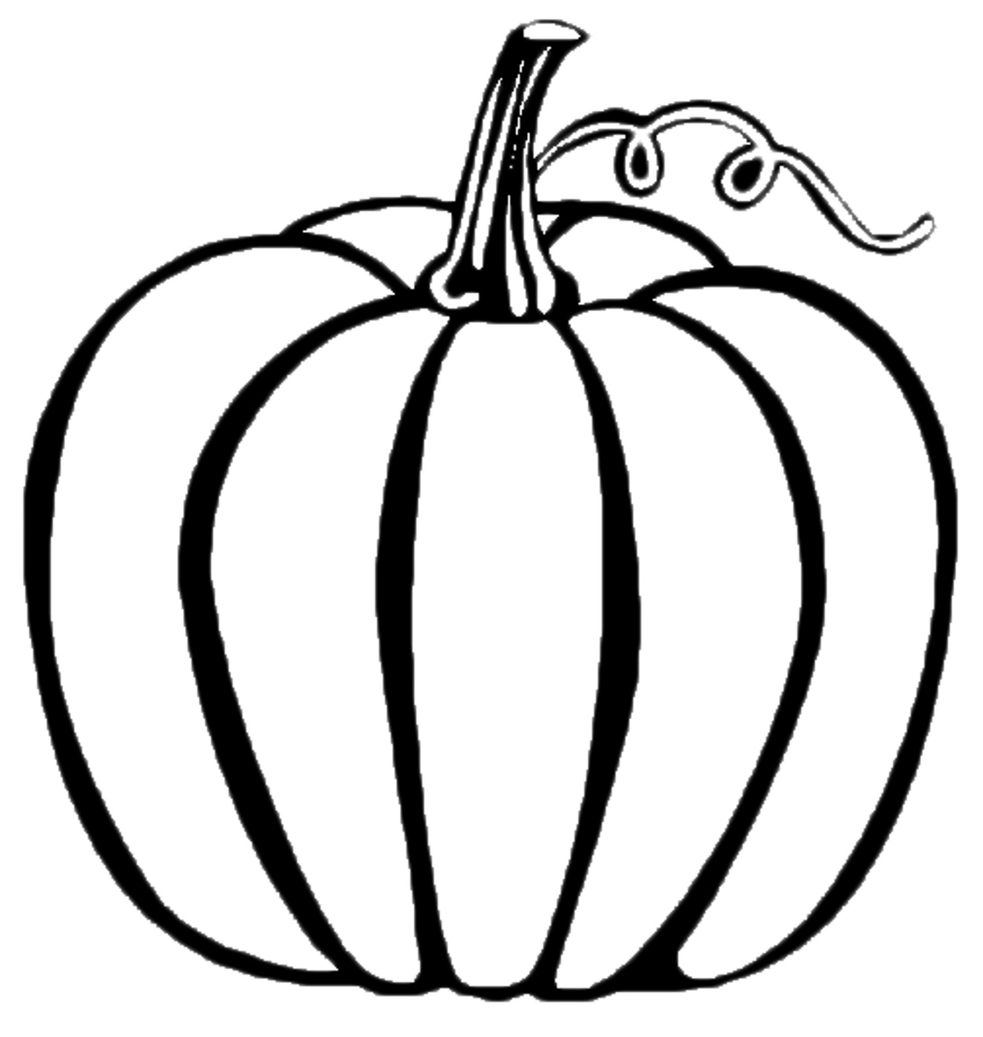 printable pumpkin coloring pages for kids - Images For Kids Drawing