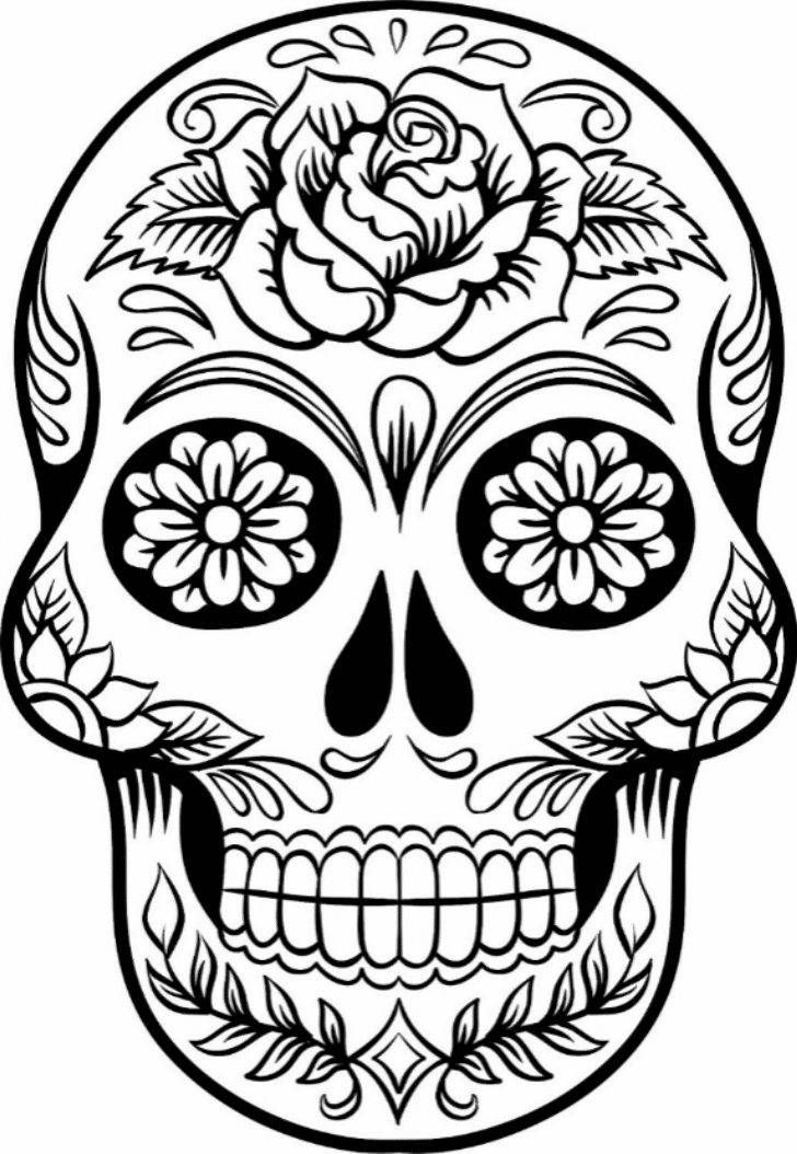 Lively image within printable sugar skulls