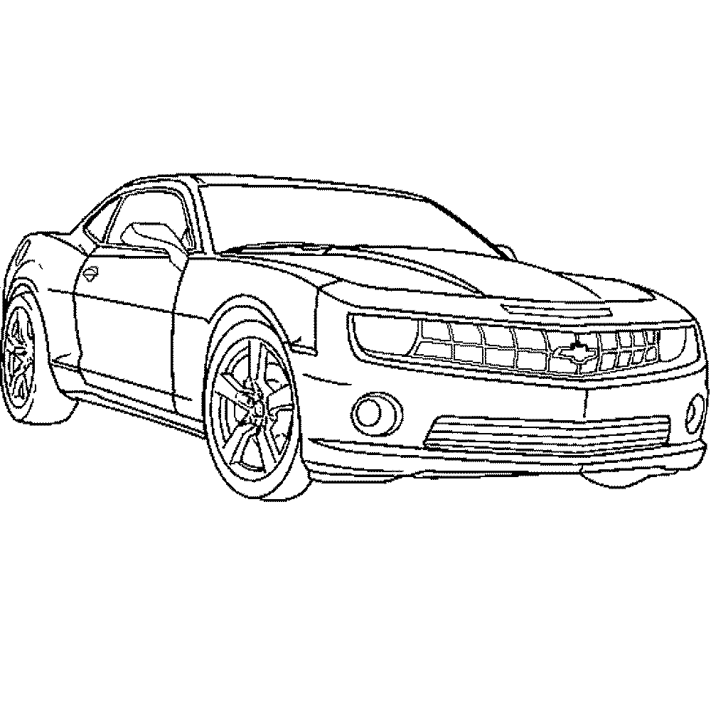 Print Download Kids Cars Coloring Pages 69 Camaro Coloring Pages