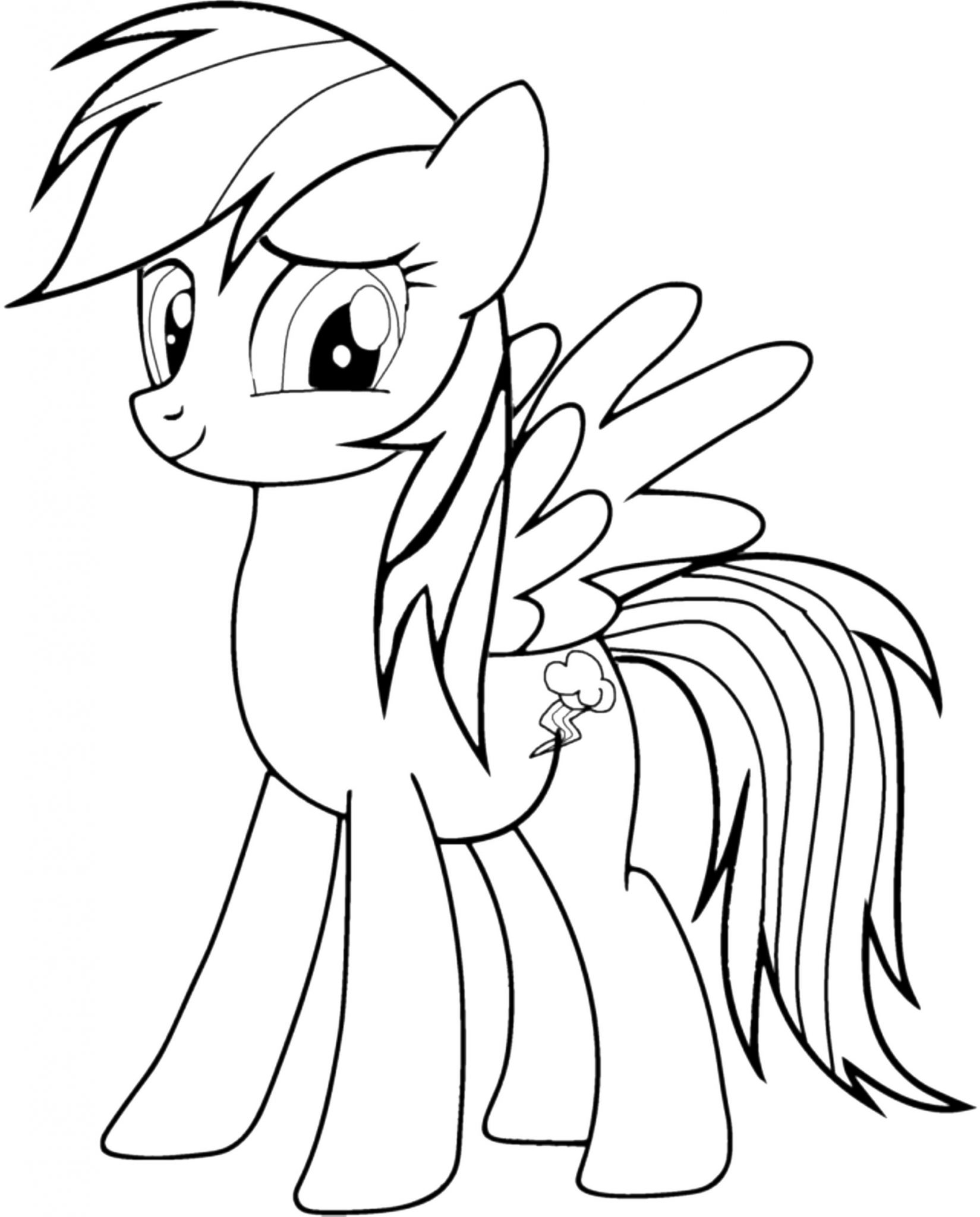 Print & Download - Colorful Rainbow Dash Coloring Pages to ...
