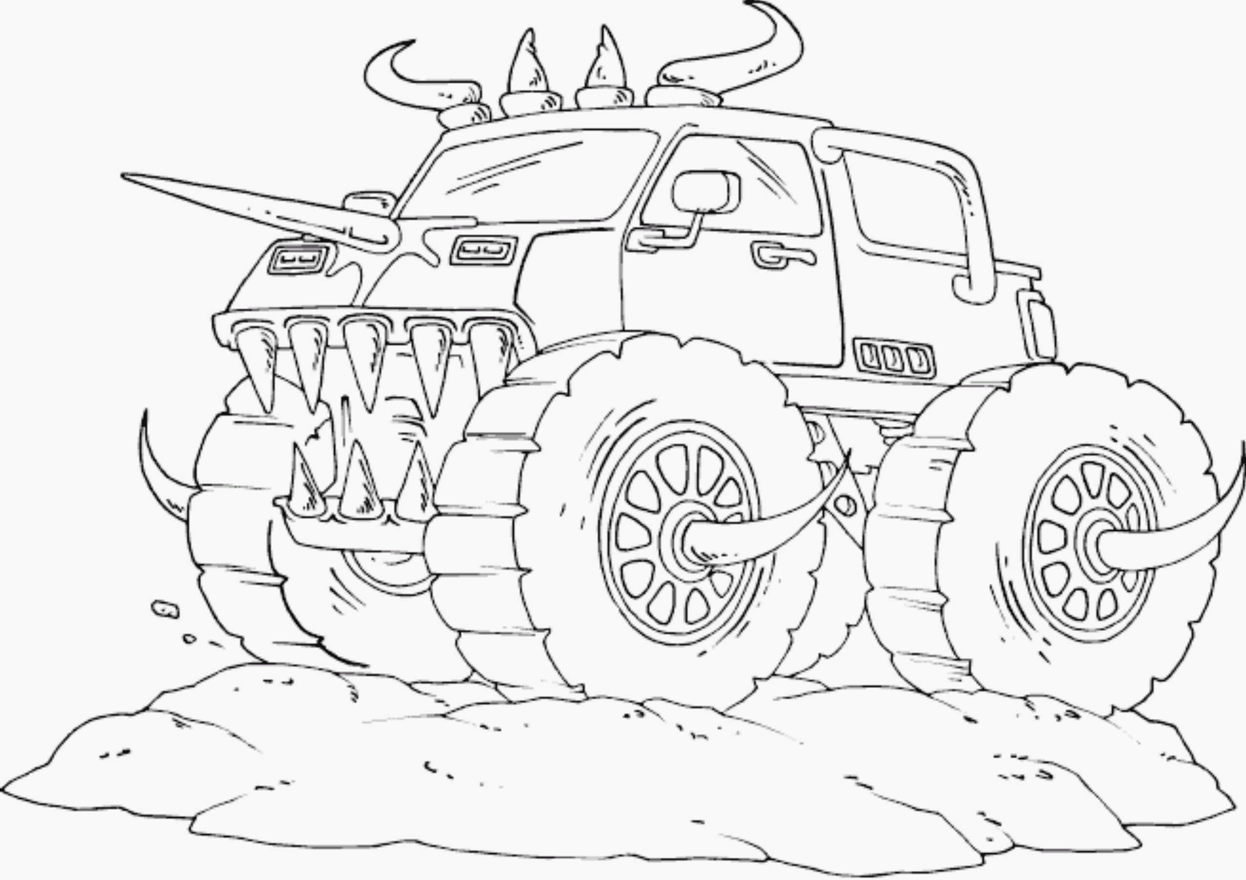 It's just a picture of Nerdy Monster Truck Printable Coloring Pages