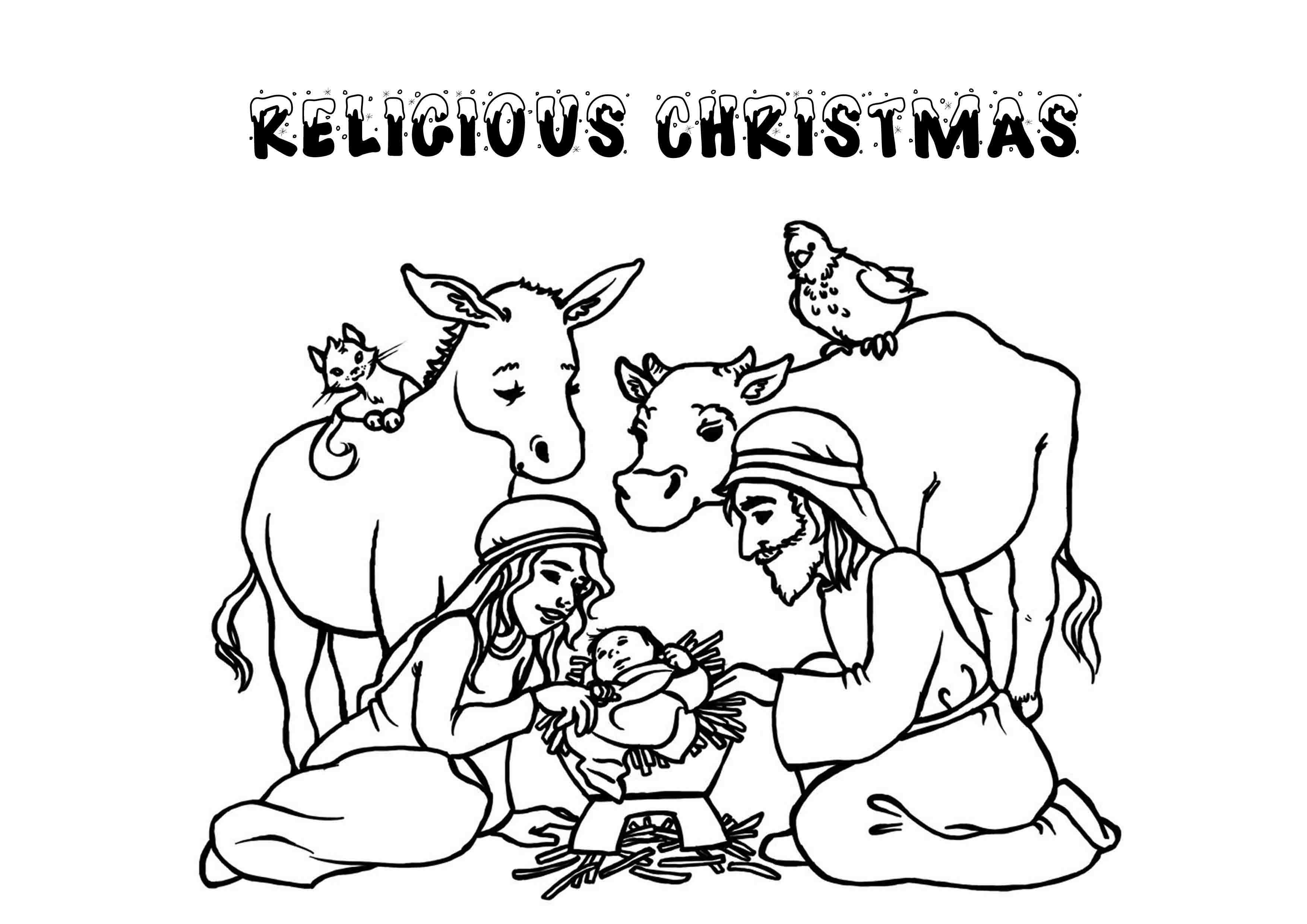 print download printable christmas coloring pages for kids