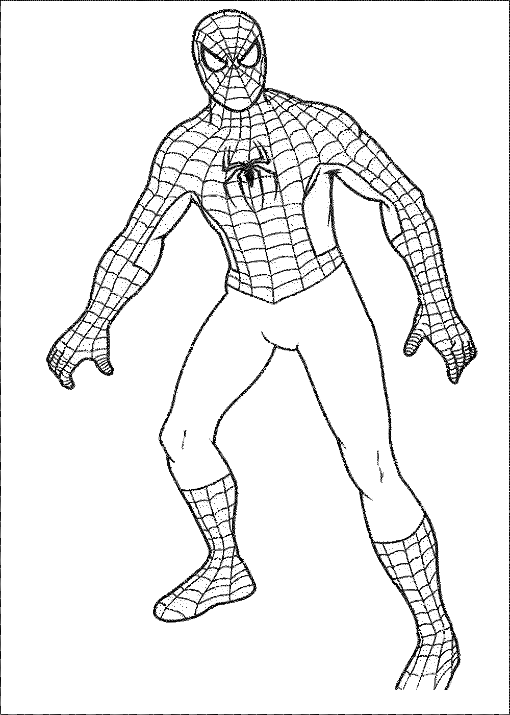 simplespidermancoloringpages