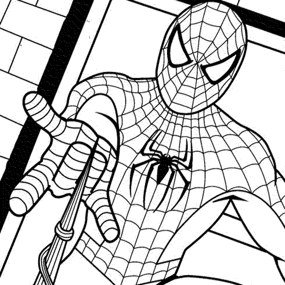 Print download spiderman coloring pages an enjoyable for Spiderman coloring book pages