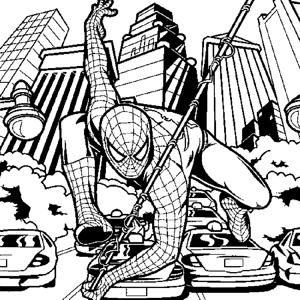 spiderman coloring pages online - Coloring Pages Of A