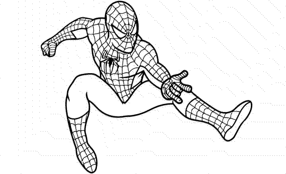 spiderman coloring pages paint - Spiderman Coloring Page