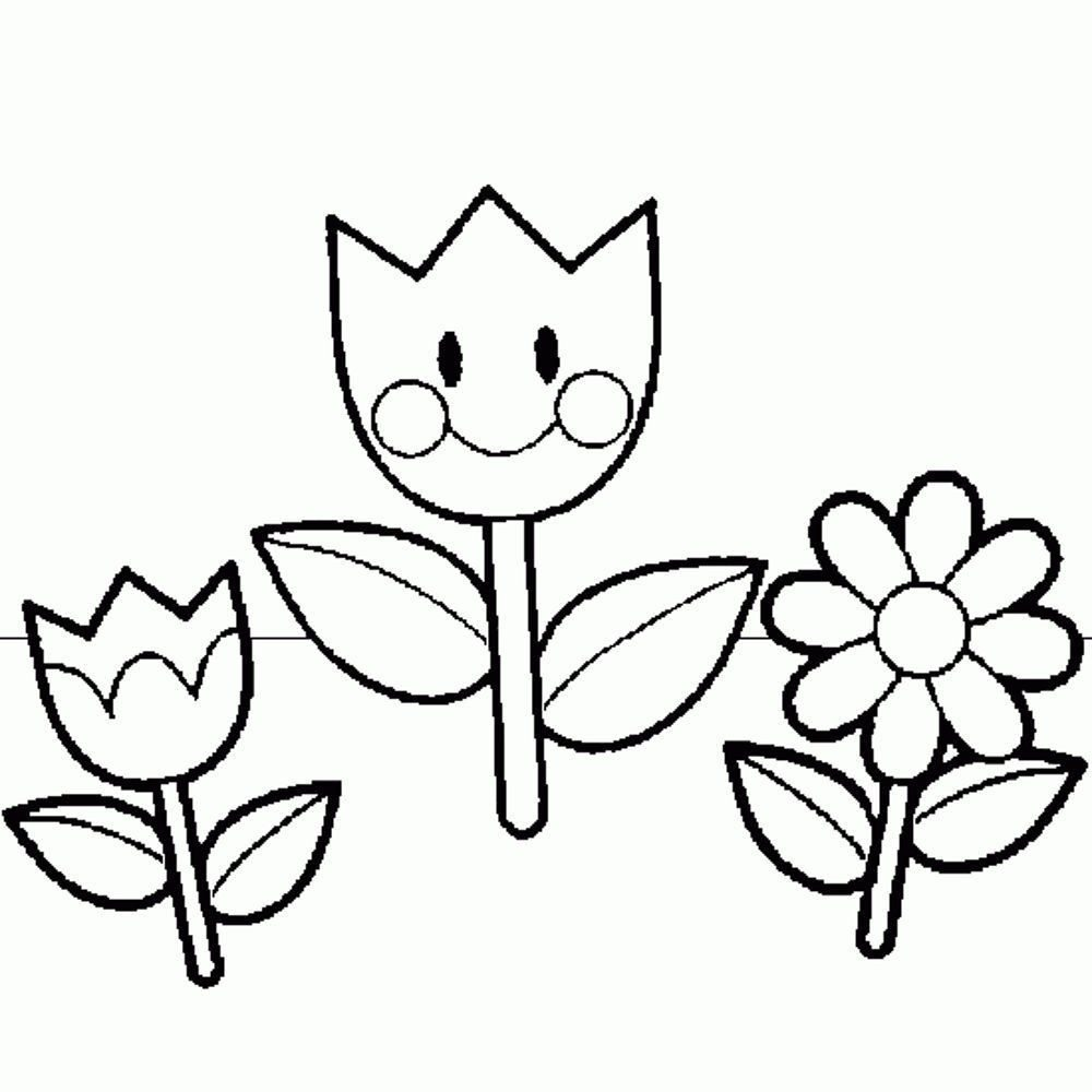 Spring Flowers Coloring Pages Bestappsforkids