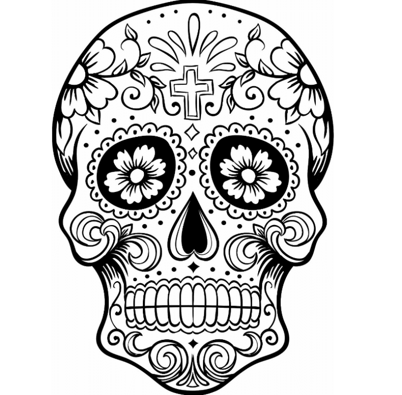 sugar skull coloring pages for adults - Sugar Skull Coloring Page