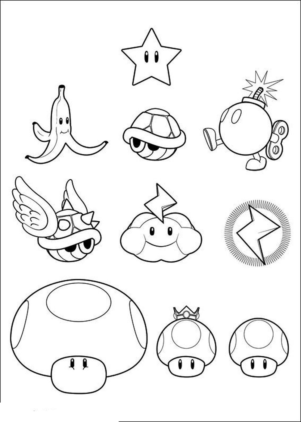 Print & Download - Mario Coloring Pages Themes