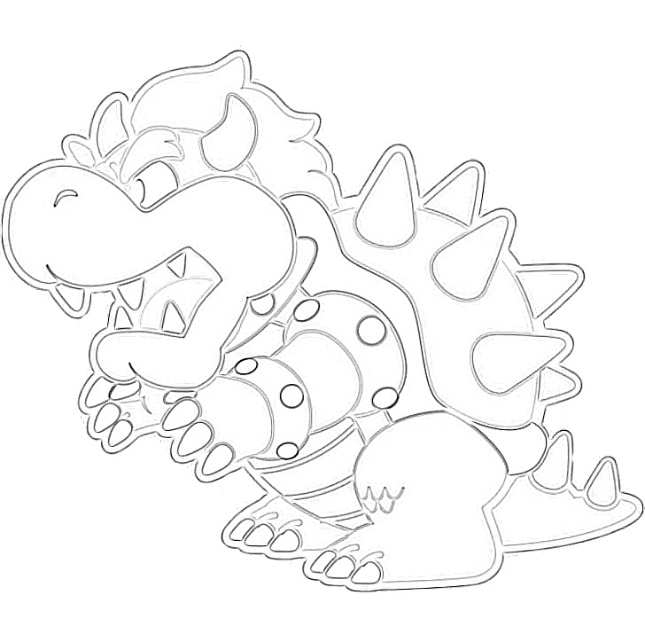Super mario bowser coloring page