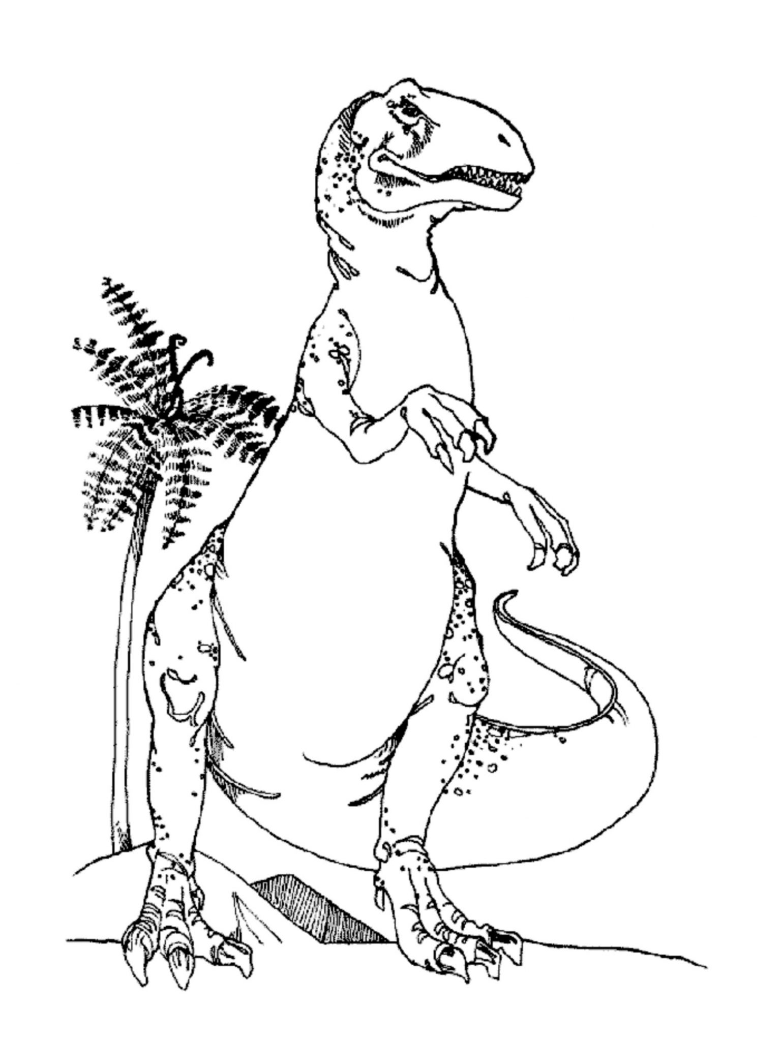 Print & Download - Dinosaur T-Rex Coloring Pages for Kids