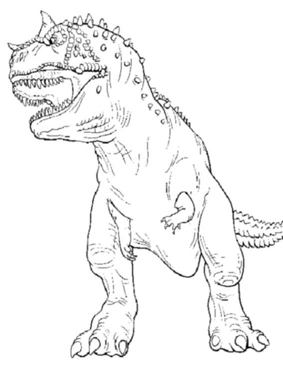 T rex coloring page jurassic world for Free t rex dinosaur coloring pages
