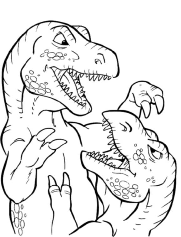 Print & Download Dinosaur T Rex Coloring Pages for Kids