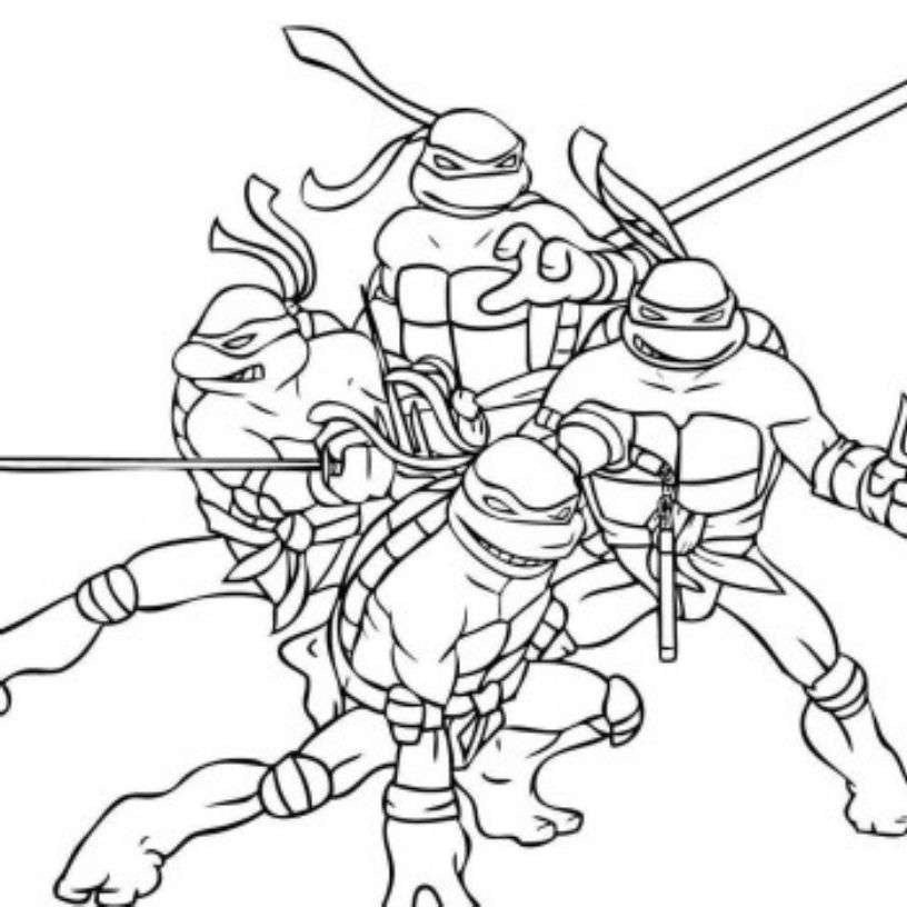 Print download the attractive ninja coloring pages for for Teenage mutant ninja coloring pages