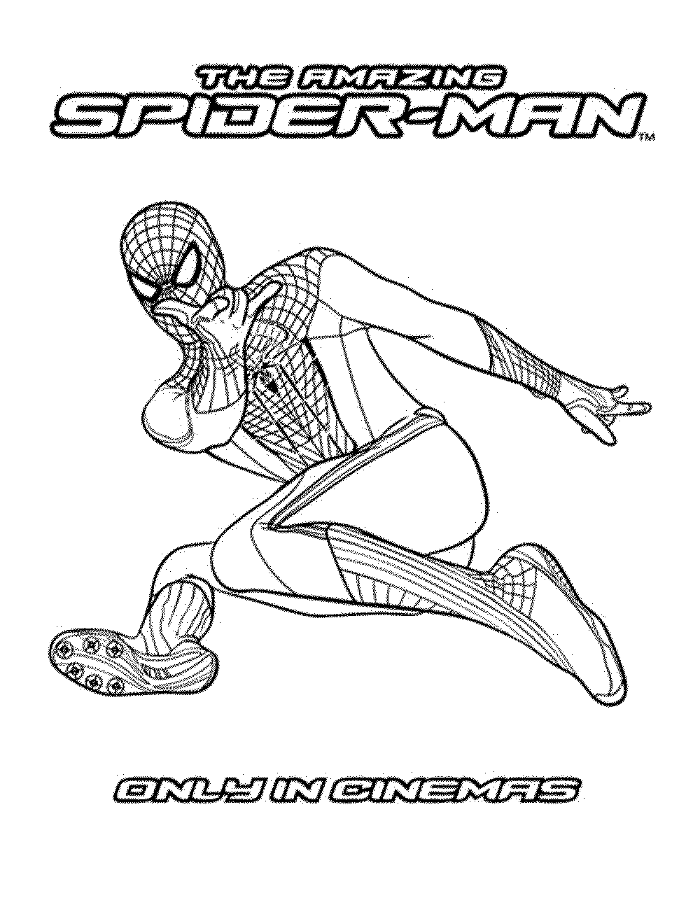 the amazing spiderman printable coloring pages - Coloring Pages Spiderman Printable
