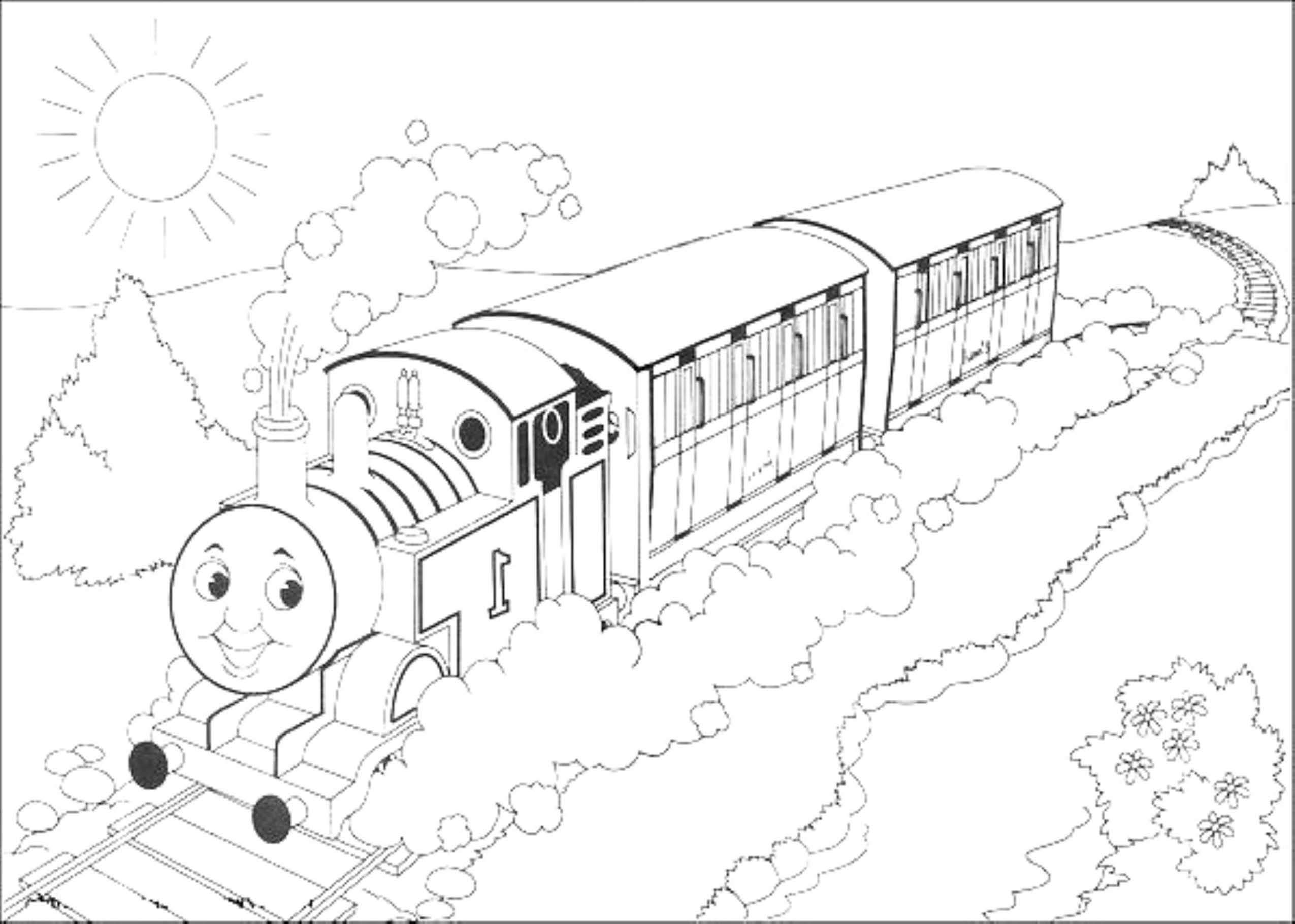 Print & Download - Thomas the Train Theme Coloring Pages