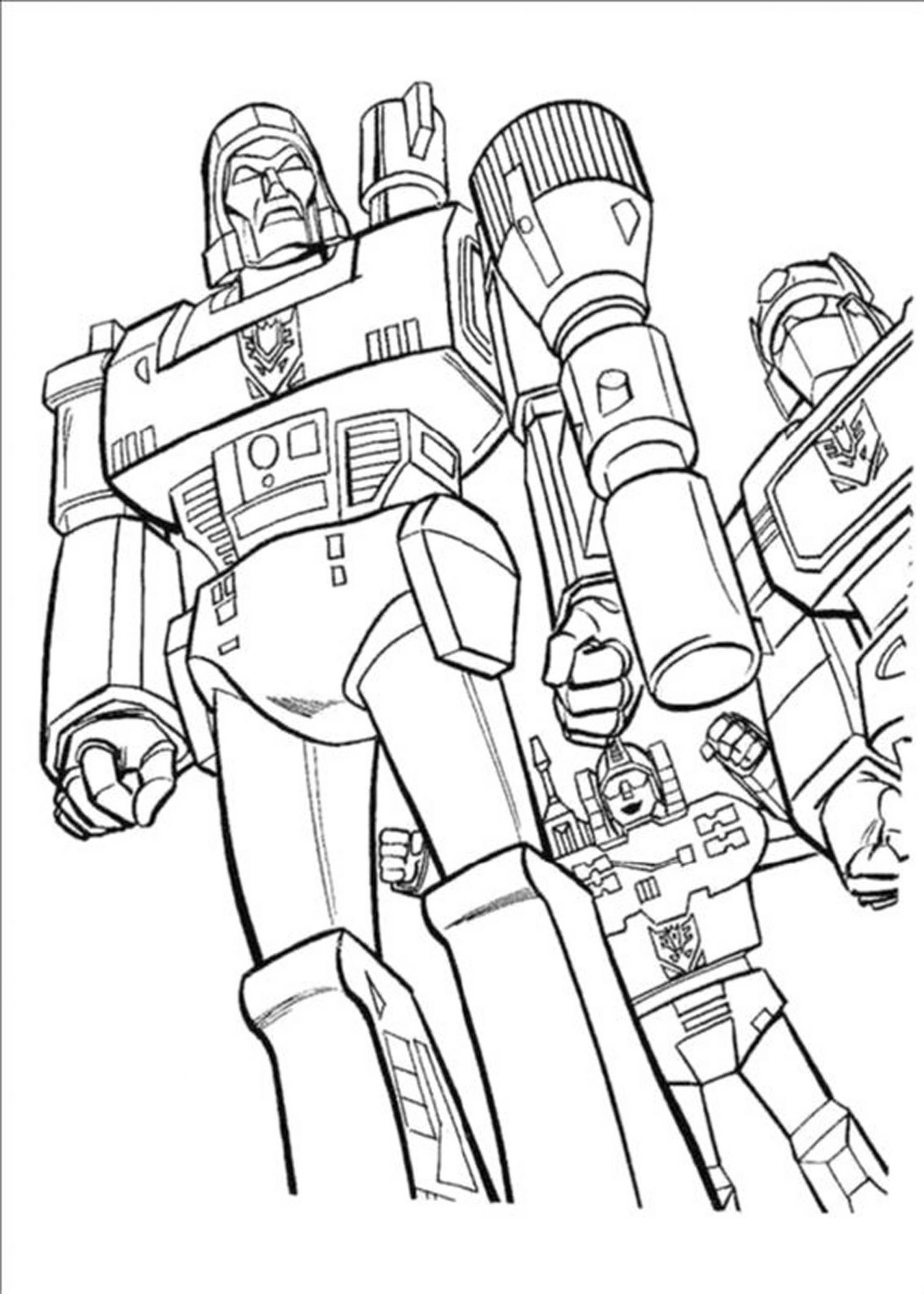 Print download inviting kids to do the transformers for Transformers animated coloring pages