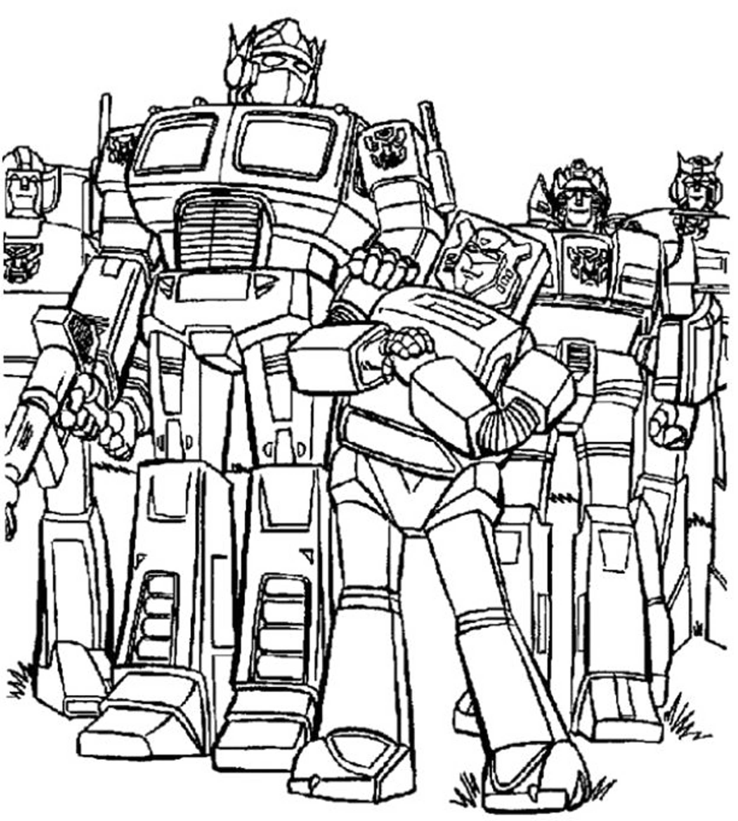 transformers prime coloring pages - Transformers Coloring Pages