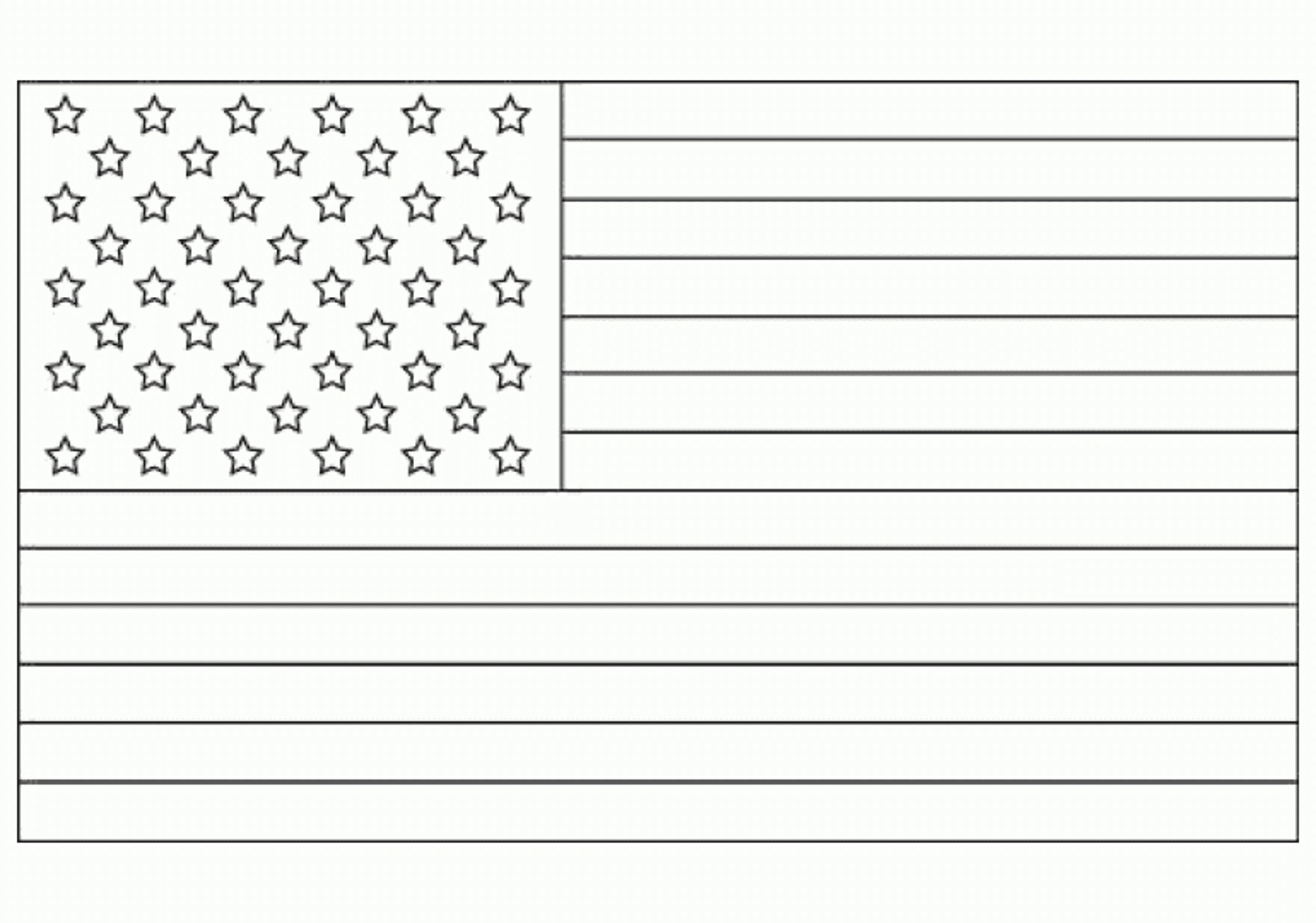 American flag coloring page for the love of the country for United states of america flag coloring page