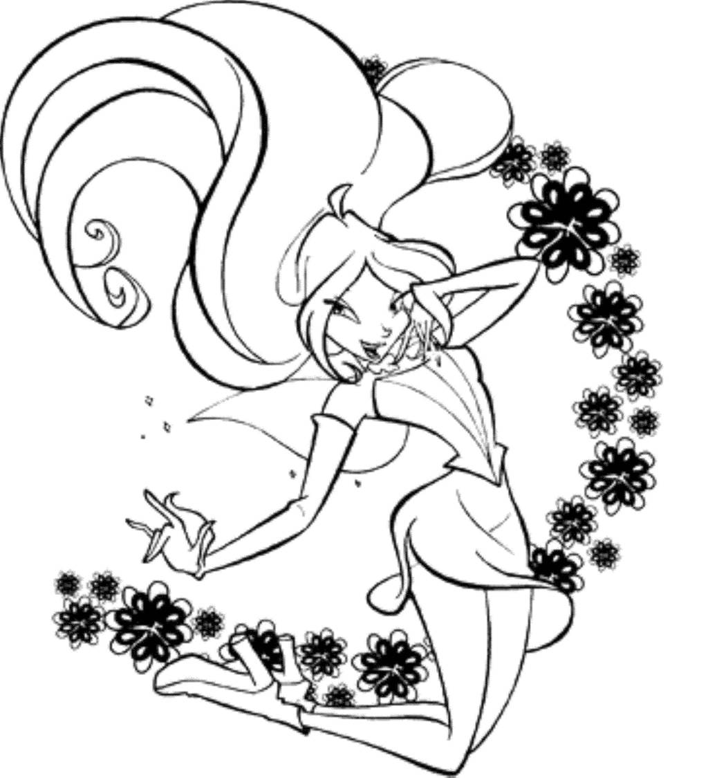 Print download winx club coloring pages popular for Winx coloring pages online