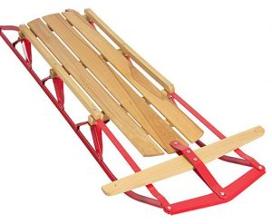 Best Choice Products 53in Kids Wooden Snow Sled