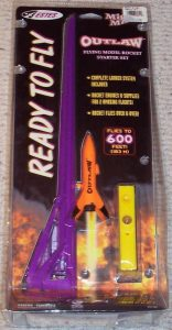 Mighty Mites Outlaw Flying Model Rocket Starter Set