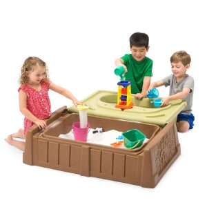 Simplay3 Outdoor Storage Bench, Sandbox and Water Activity Station​