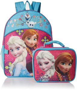 Disney-Girls-Frozen-Elsa-and-Anna-Backpack-with-Detachable-Lunch-Bag-Hot-PinkBlue