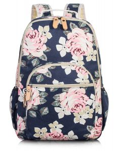 Fashion-Floral-College-Bags-Student-School-Backpack-by-Leaper-