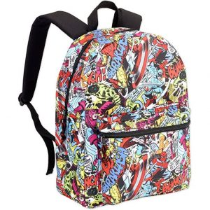 Marvel-Comic-Print-Backpack-Assorted-Designs