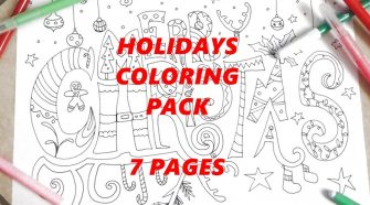 holidays coloring ebook kids christmas