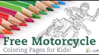 Free Motorcycle Coloring Pages for Kids!