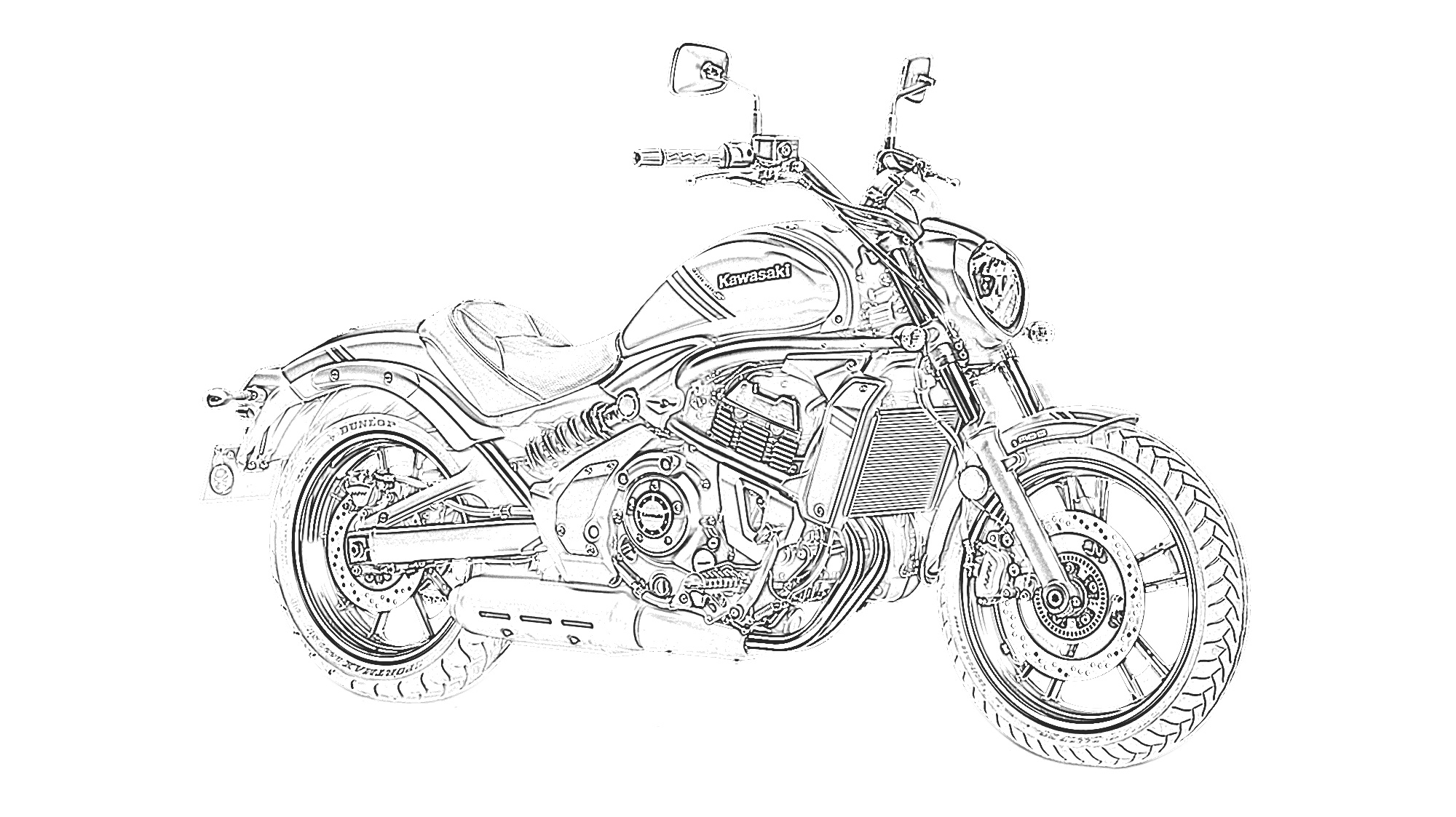 Motorcycle Coloring Pages For Kids - Coloring Home | 1123x2000