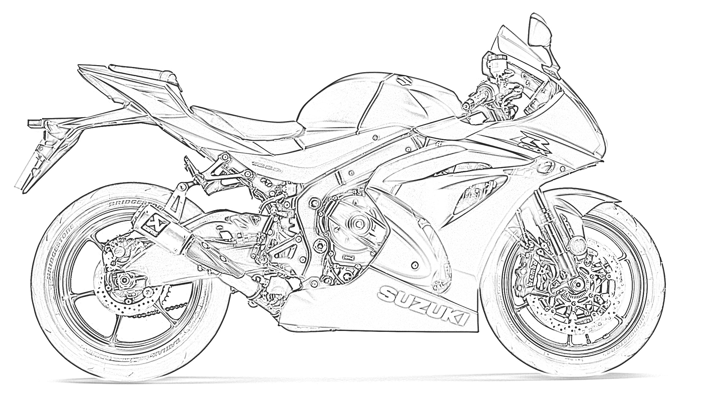sportbike coloring pages | [Printables] Free Motorcycle Coloring Pages | BAPS