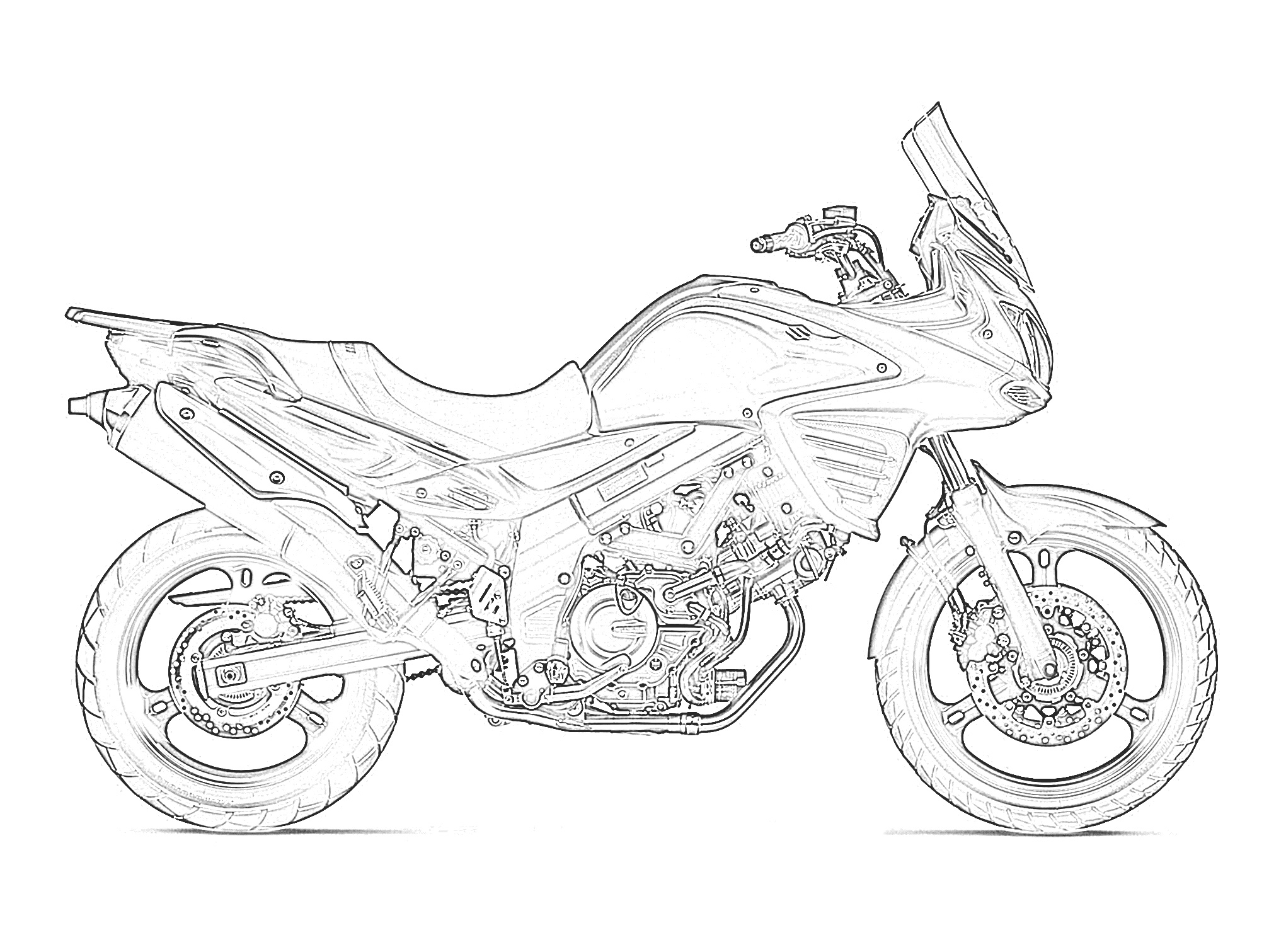 Printables Free Motorcycle Coloring