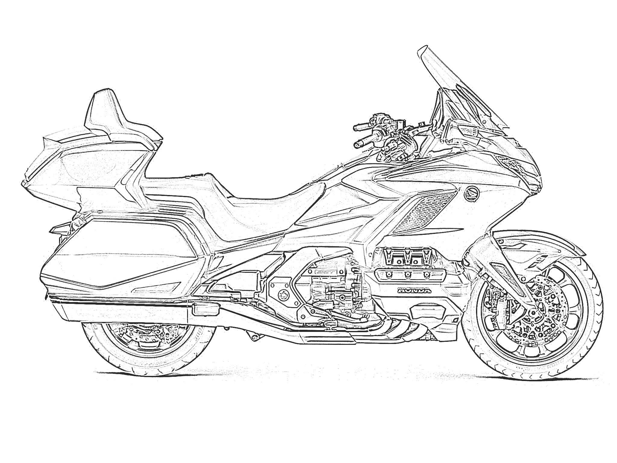 Printables Free Motorcycle Coloring Pages | BAPS