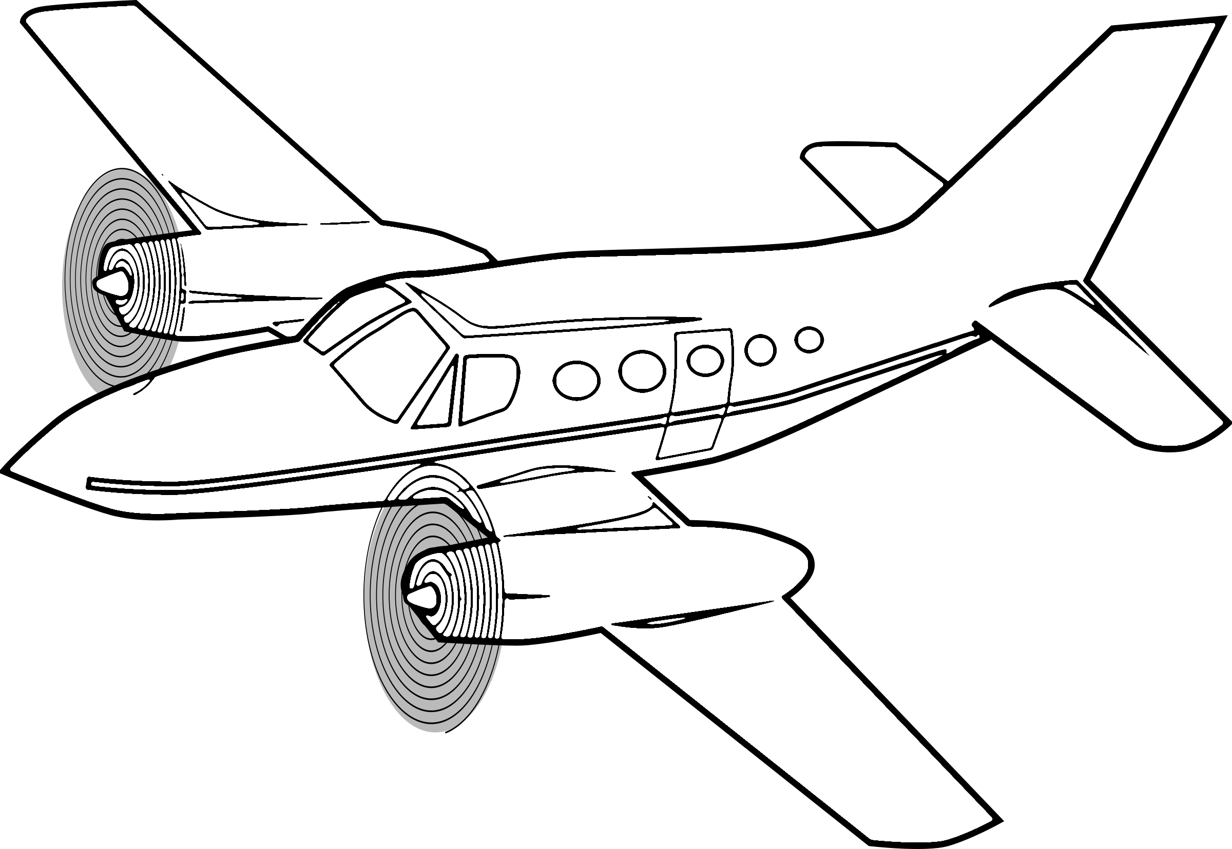 Propeller airplane coloring page