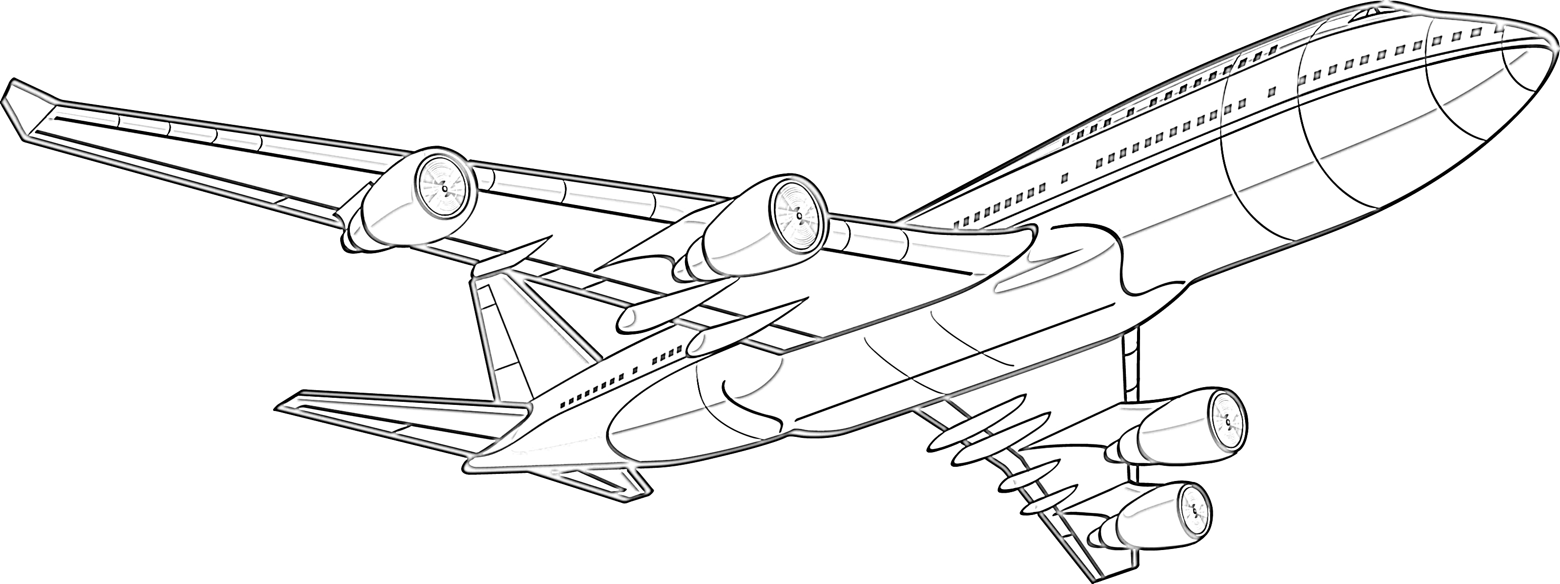 Jetliner airplane coloring page