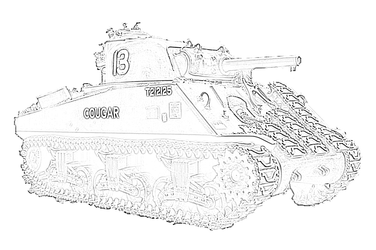 Army tanks coloring page