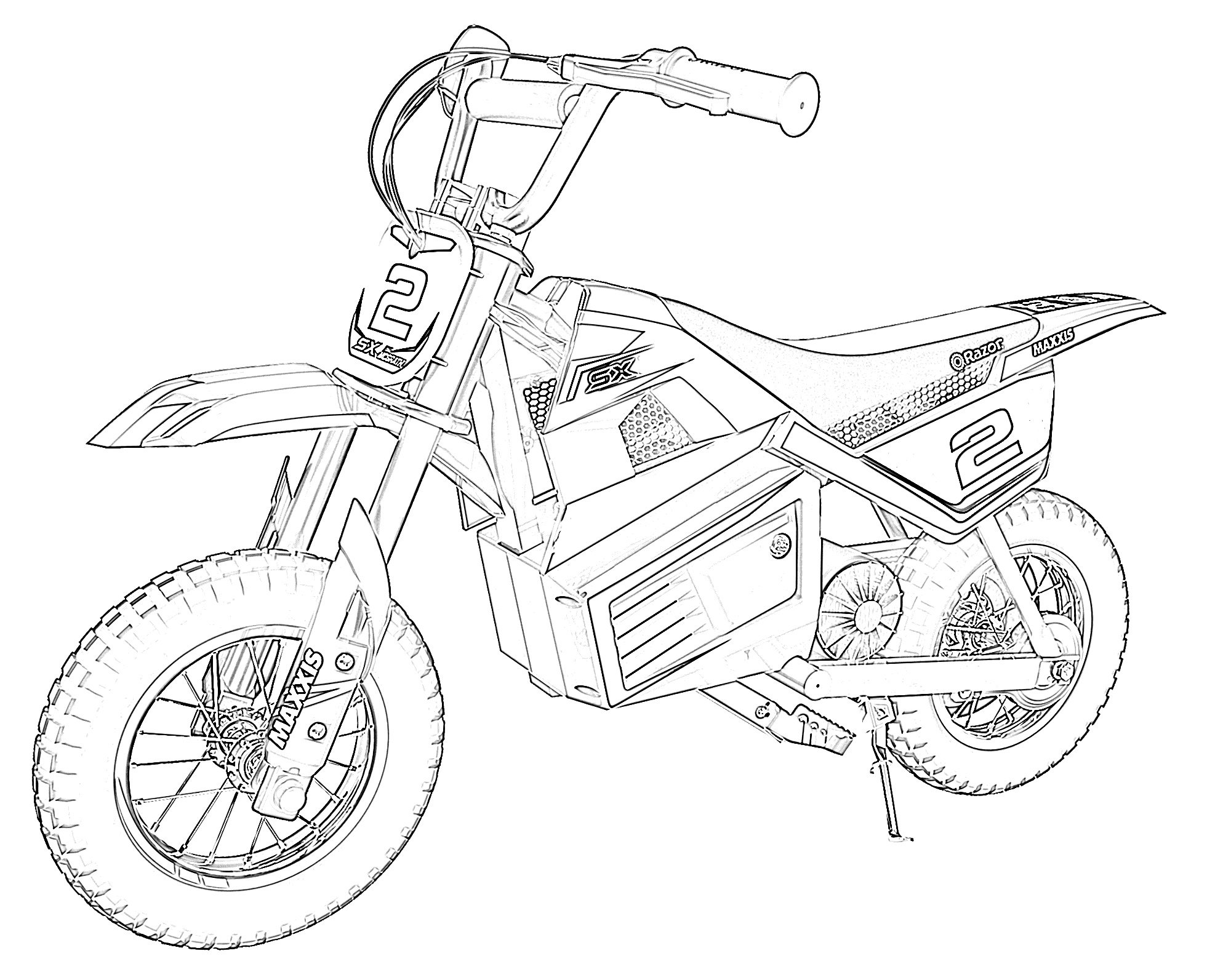 Dirt bike small coloring page
