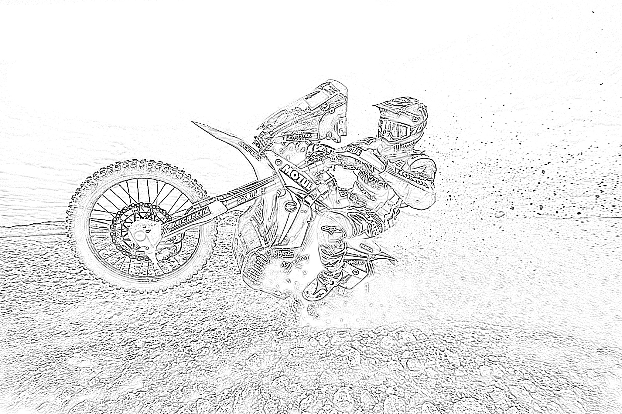 10 Free Dirt Bike Coloring Pages for Kids | Save, Print ...
