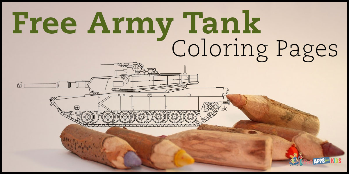 Free Army Tank Coloring Pages