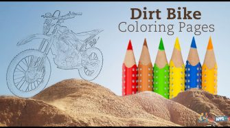 Free Dirt Bike Coloring Pages