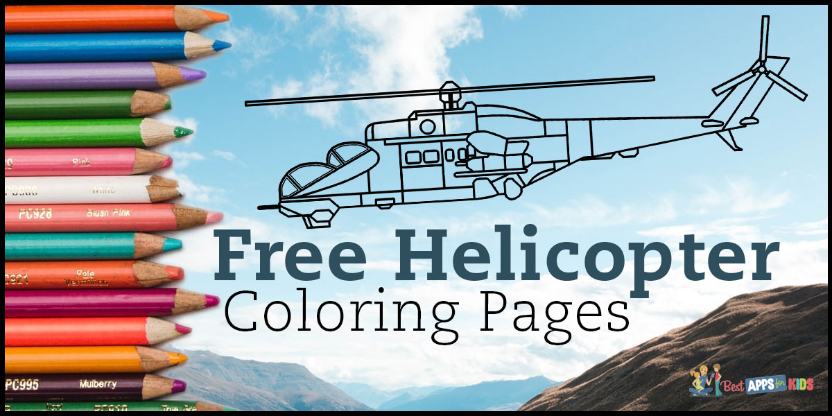 Free Helicopter Coloring Pages